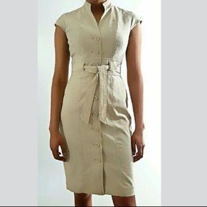 2/$40❤️ Calvin Klein Linen Utility Dress
